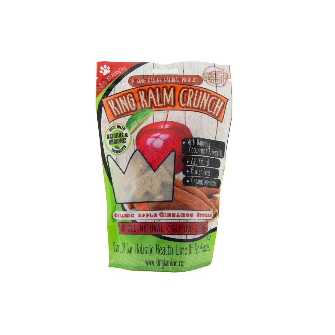 King Kalm Crunch Apple Cinnamon CBD Dog Treat 2000x - KING KALM™ Crunch - Apple Cinnamon