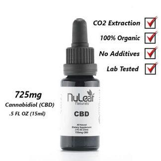725 mg Full Spectrum CBD Oil, High Grade Hemp Extract (50mg/ml) 6-Pack