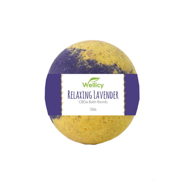lavender bath bomb with label grande - 50mg Relaxing Lavender CBD Bath Bomb