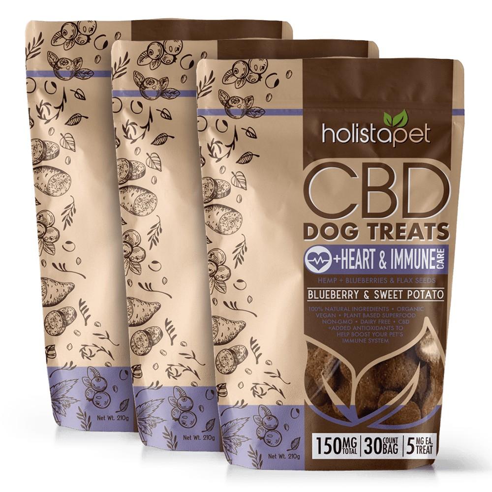 HolistaPet Heart and Immune CBD Dog Treats Bundle - Bundle & Save: 3 CBD Dog Treats +Heart & Immune Care