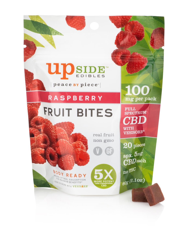 Rasberry Fruit Bites - Raspberry CBD Fruit Bites