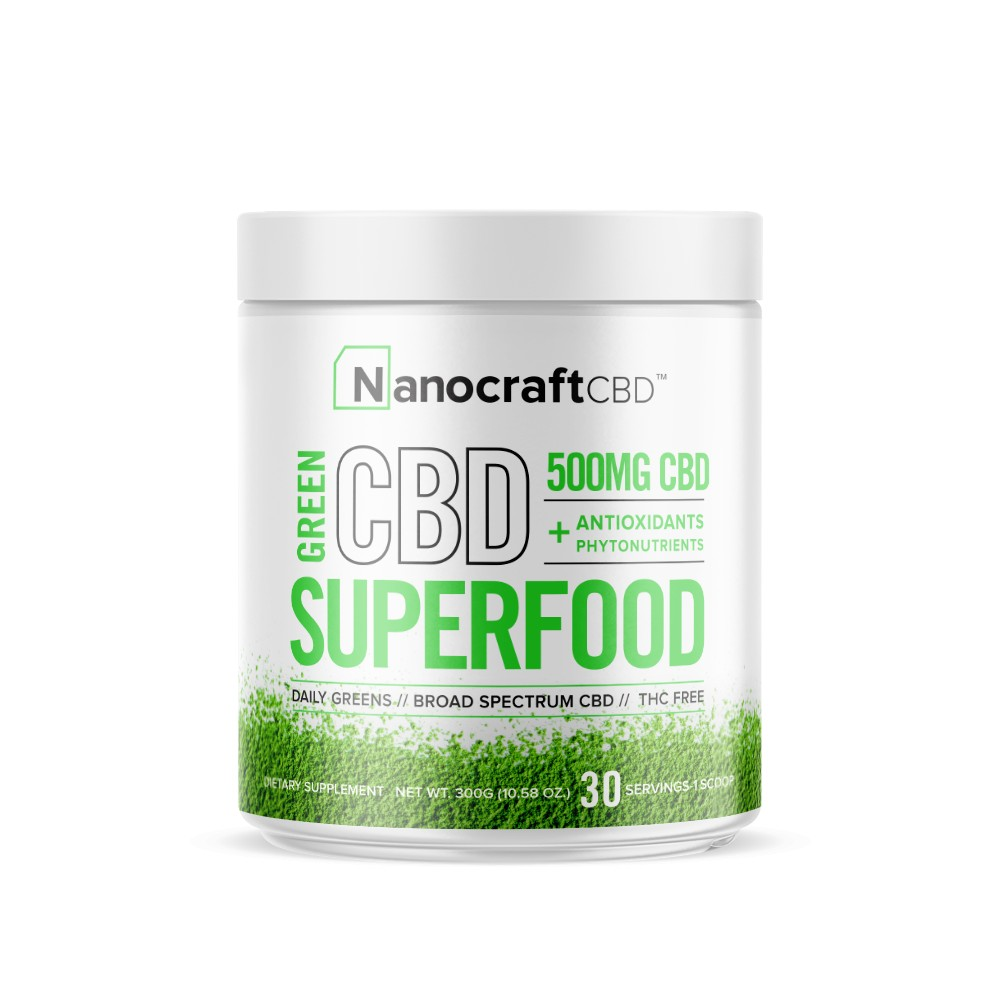 nanocraftcbd green cbd supferfood front 1024x1024 - CBD SUPERFOOD GREEN POWDER