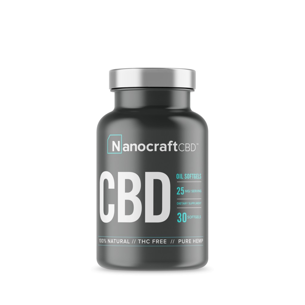 nanocrcaft softgel CBD front 1024x1024 - FULL SPECTRUM CBD OIL SOFTGELS