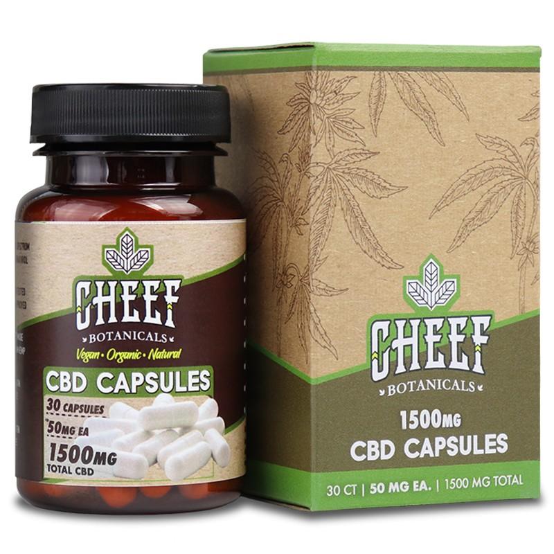 Cheef Botanicals 1500mg CBD Capsules - CBD Capsules 1500mg