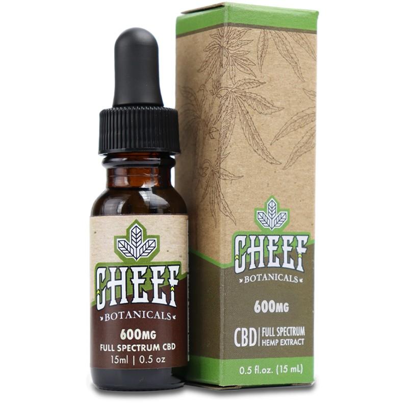 Cheef Botanicals 600mg CBD Oil - Hemp CBD Oil Drops 600mg