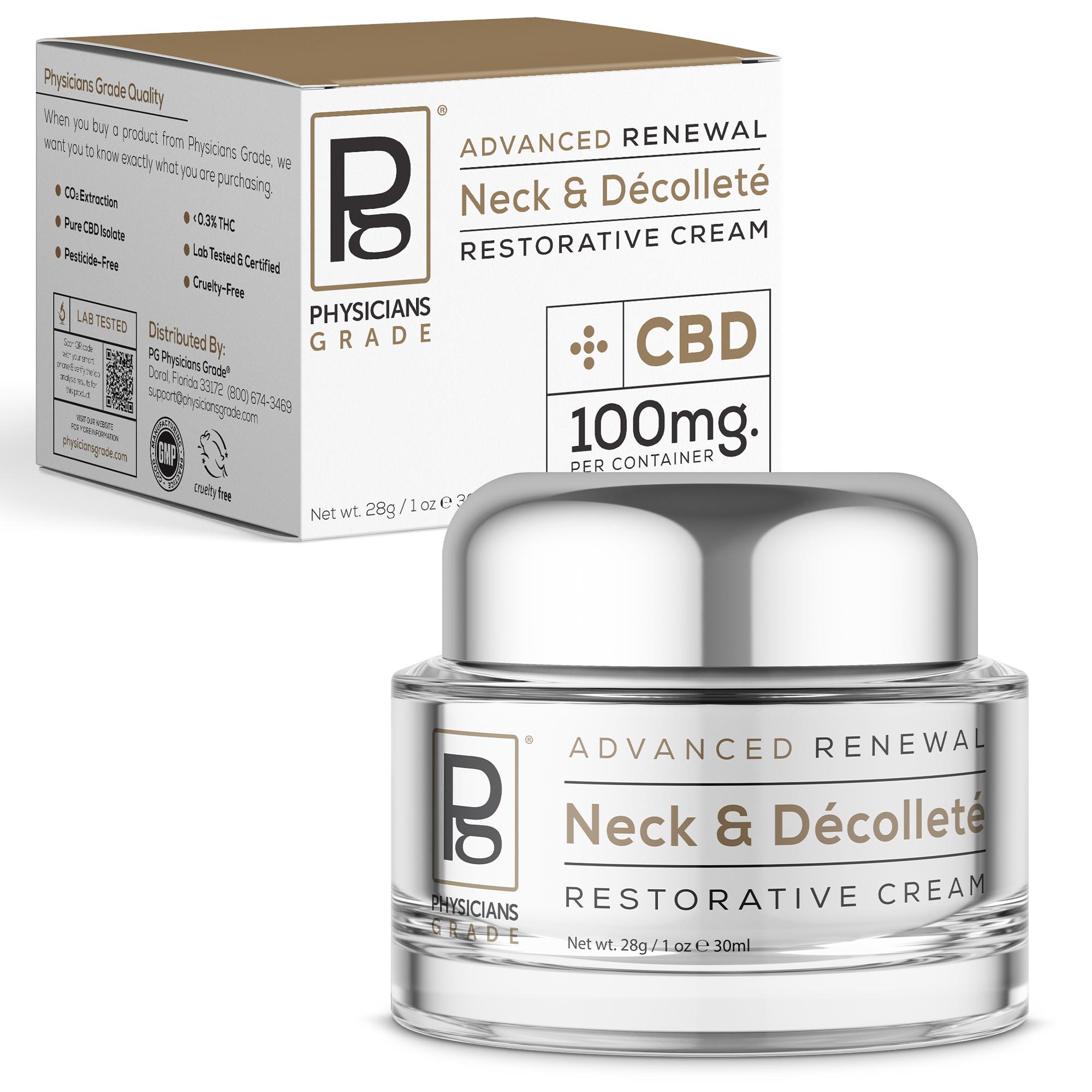 527503 NeckDec Cream - Neck & Décolleté Cream + 100mg CBD