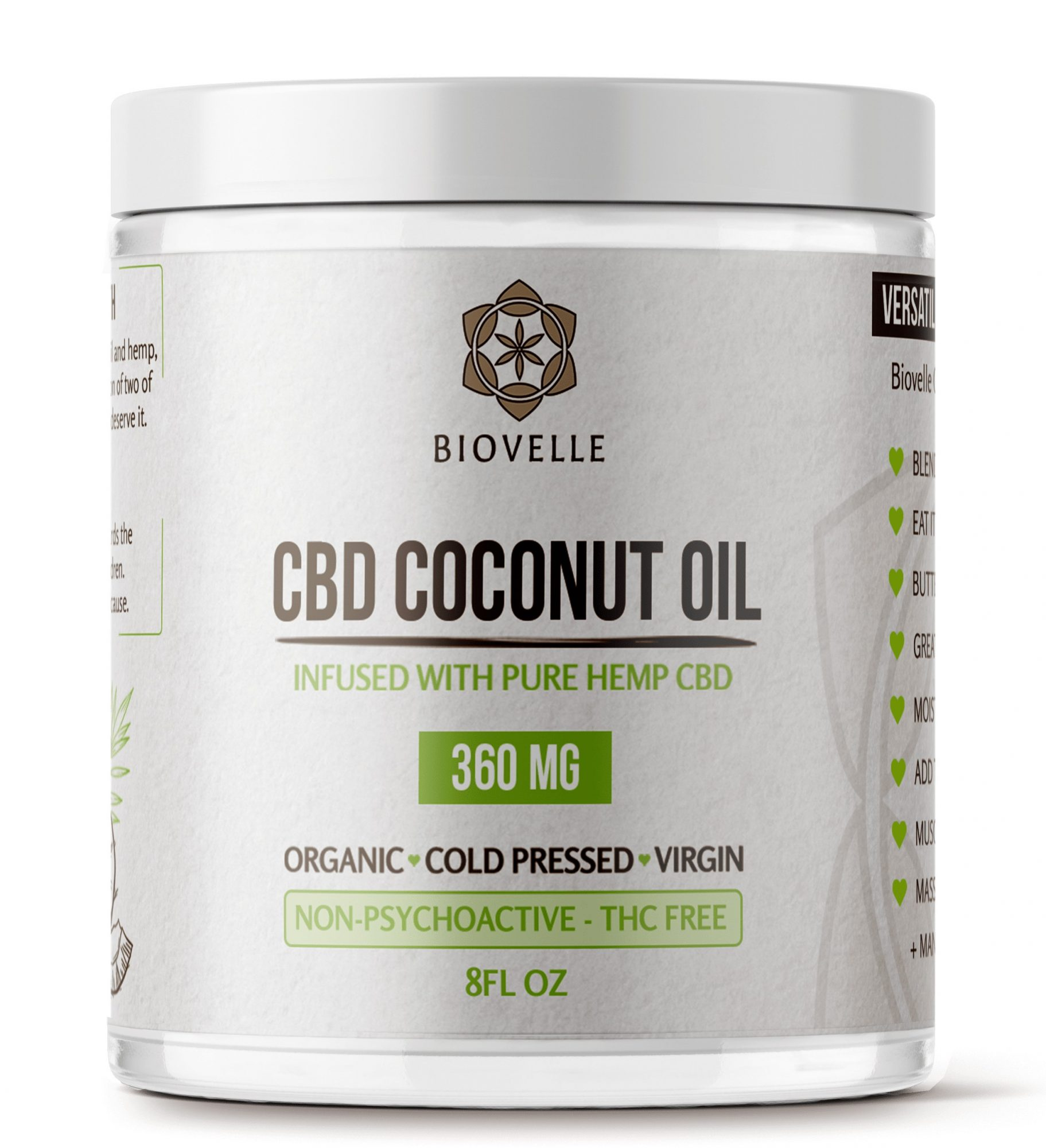 8ozJar - CBD Coconut Oil 8oz