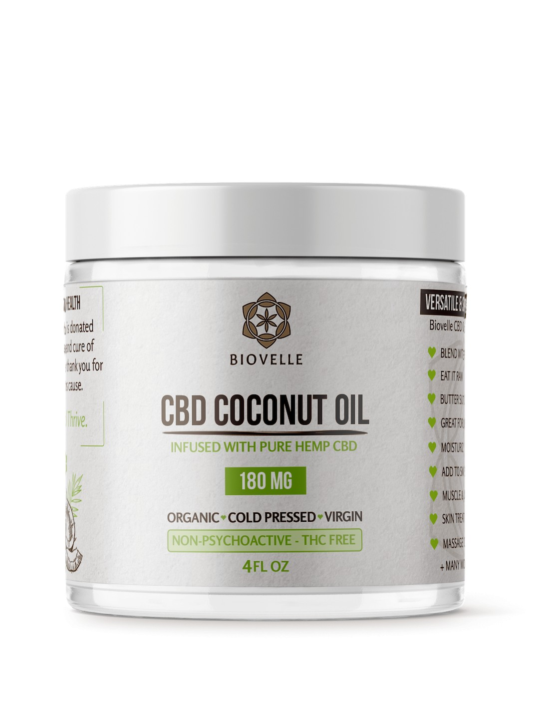 Jar Mockup 4oz copy min - CBD Coconut Oil 4oz