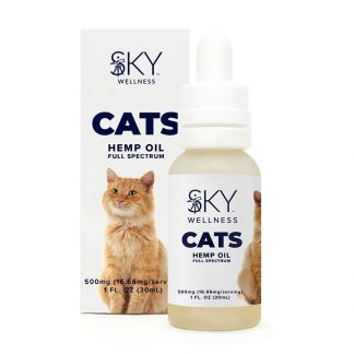 HEMP OIL TINCTURE FOR CATS 500mg