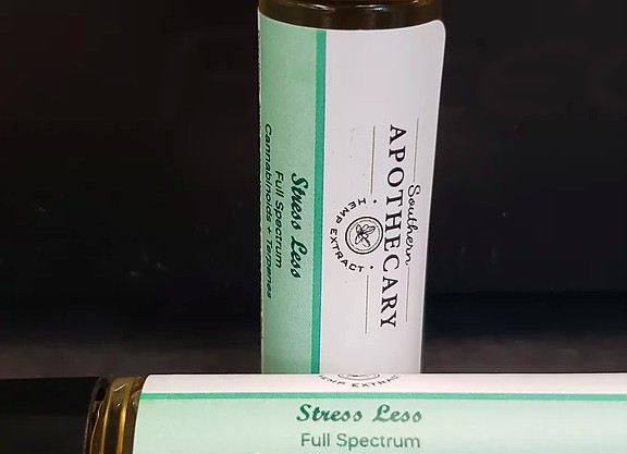 STRESS LESS CBD infused roll-on essential oil blen...