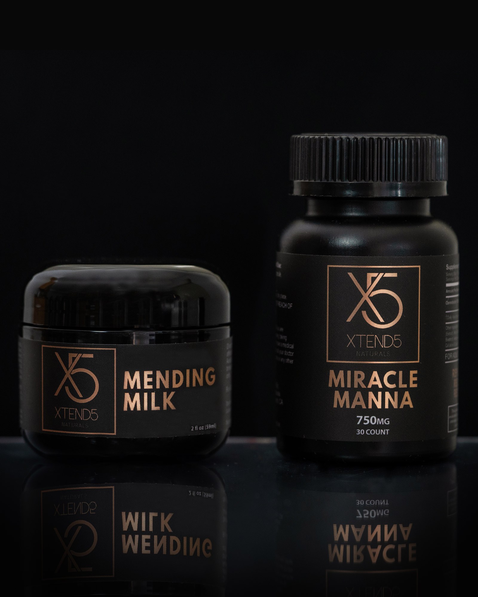 xtend5 mending milk 500mg miracle manna 750mg capsules - The Recovery Pack