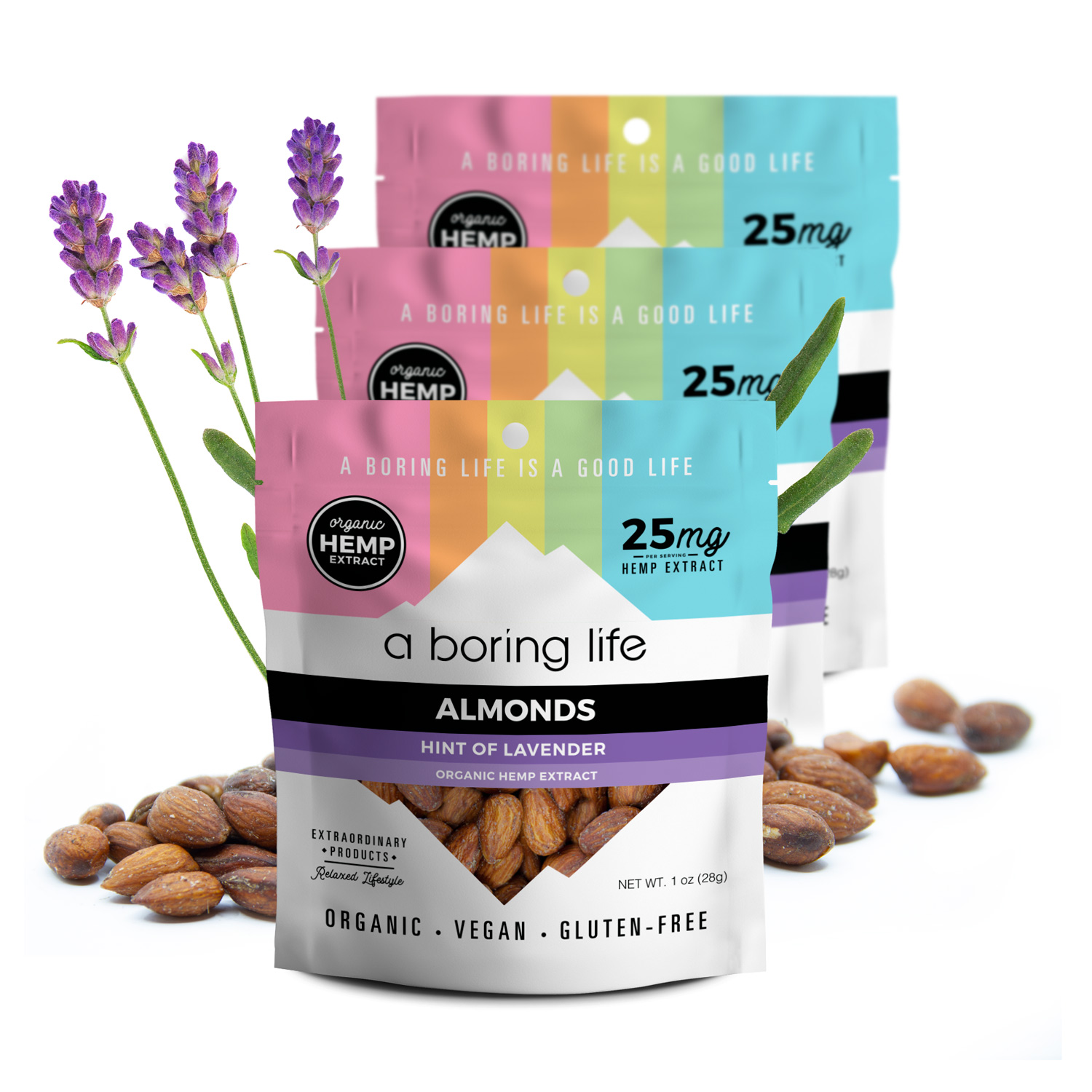 3 pack - Roasted Almonds with a Hint of Lavender, Pack of 3
