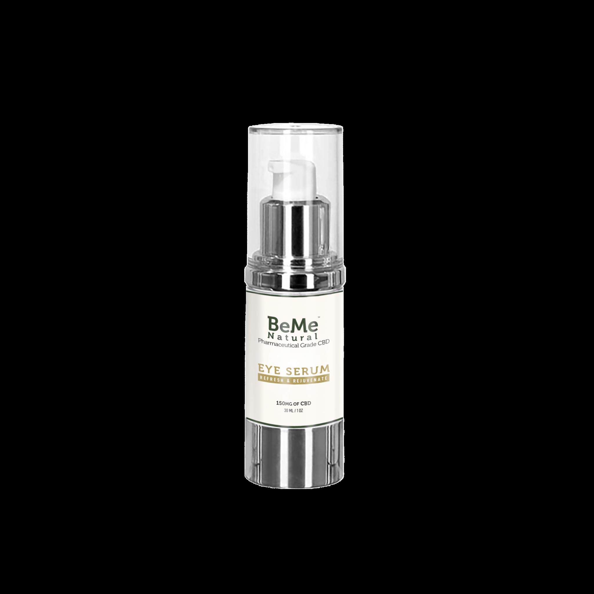 BeMeNatural Eye Serum Front rendering min scaled - CBD Eye Serum – 150mg