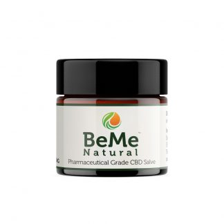 BeMeNatural Salve 1oz Front Jar Amber glass optimised 1000x1000 324x324 - CBD Salve - 500mg, 1 ounce