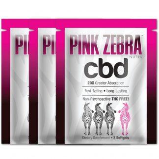 9 Pink Zebra CBD Softgels (3 Packets)