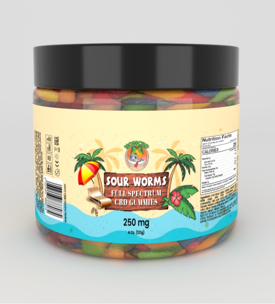 250 worms  - CBD SOUR WORMS 250MG