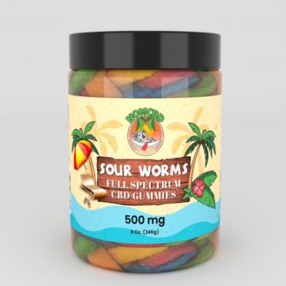 CBD SOUR WORMS 500MG