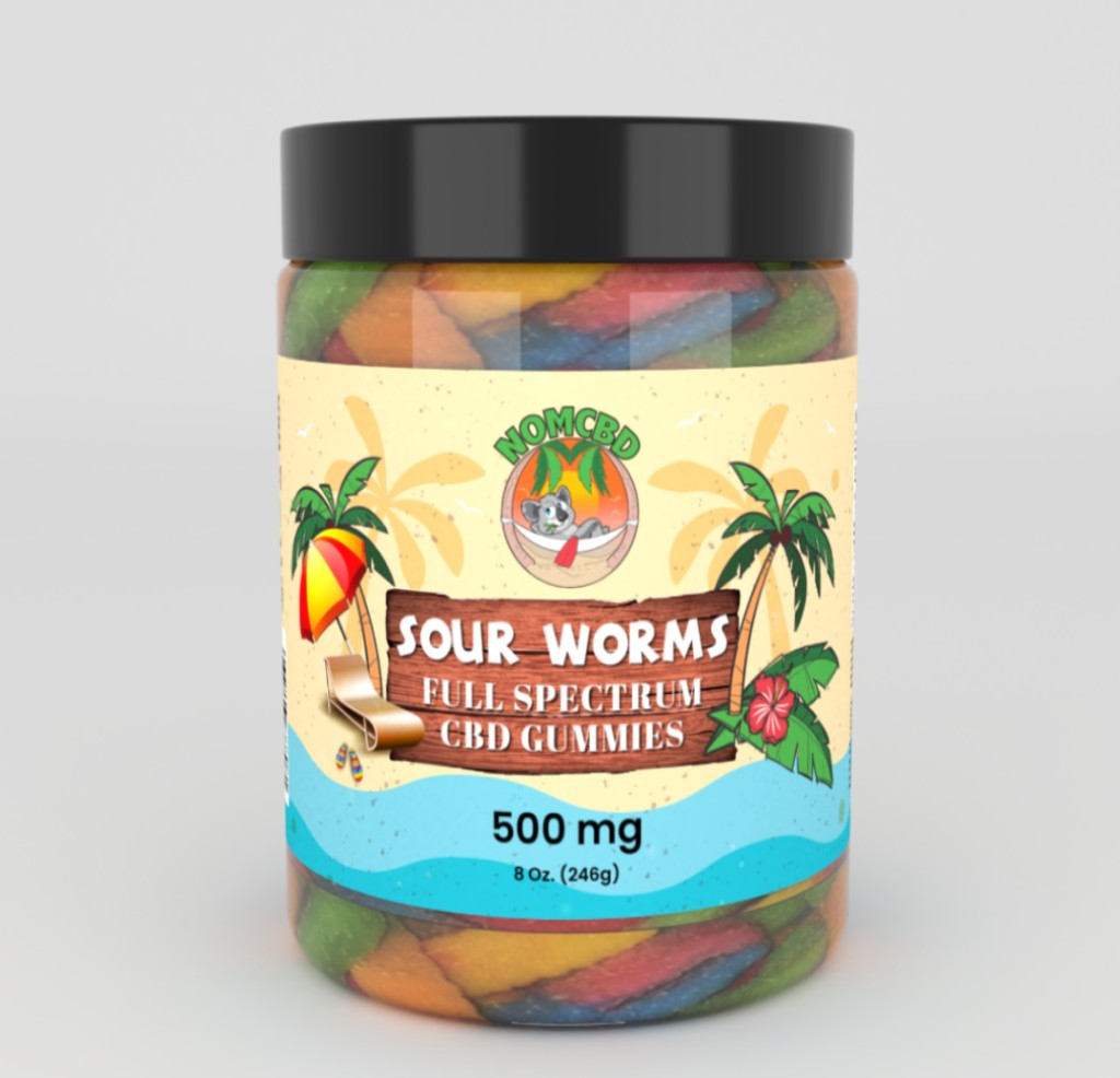 500 worms - CBD SOUR WORMS 500MG