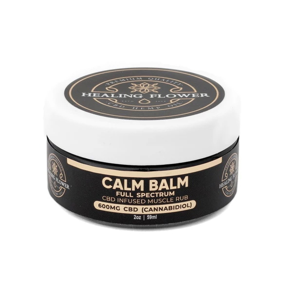 HC CalmBalm 1 600x - Full Spectrum Hemp CBD Calm Balm Muscle Cream