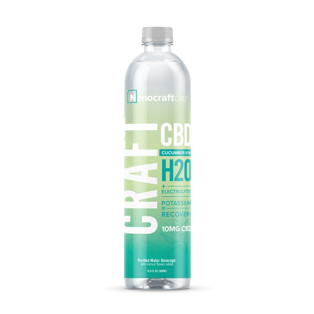 nanocraftcbd kiwi water front new 1024x1024 - CRAFT H20 CBD RECOVERY WATER CUCUMBER KIWI 12 PACK