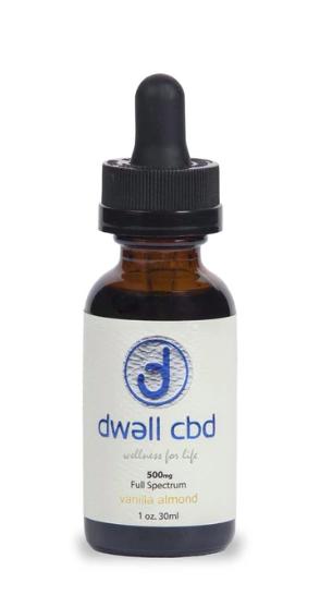 500mg Full Spectrum CBD Oil Vanilla Almond