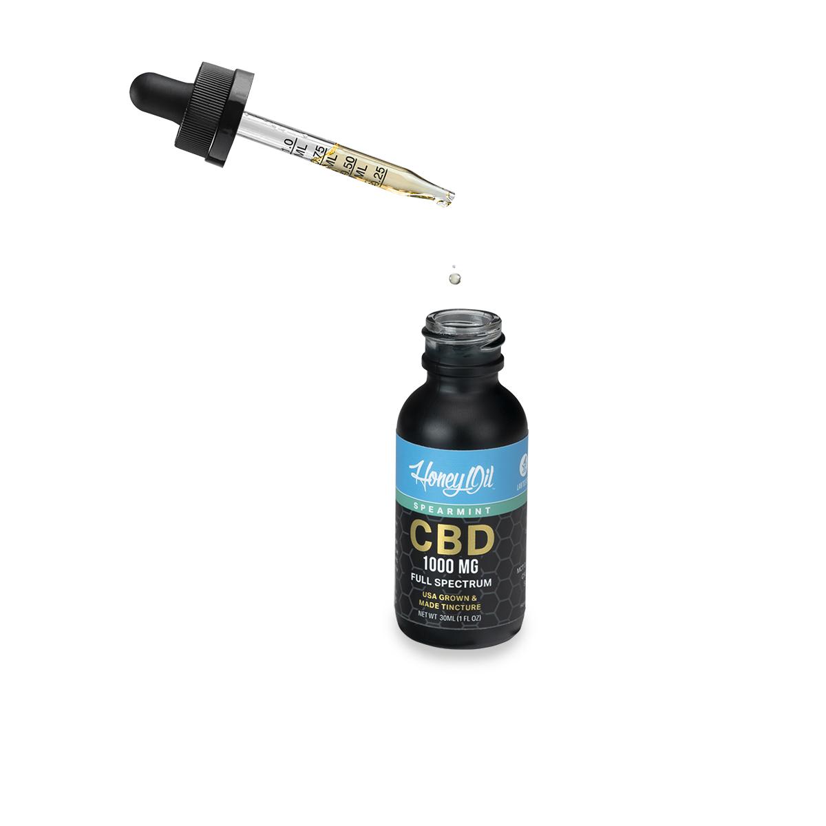 Spearmint FloatingDropper1000 - Spearmint Full Spectrum CBD Oil 1000 MG