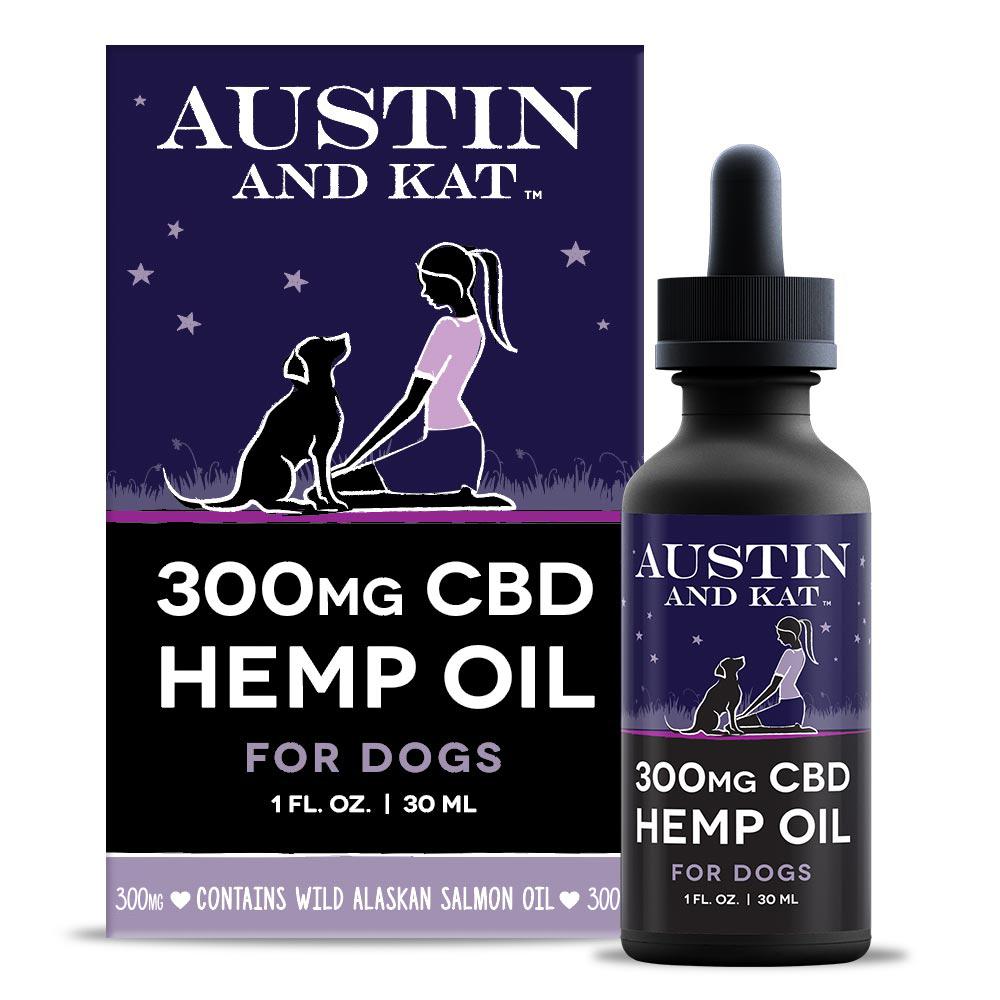 300mgCBDPetOilWithPackaging - CBD Hemp & Salmon Oil for Dogs 300mg