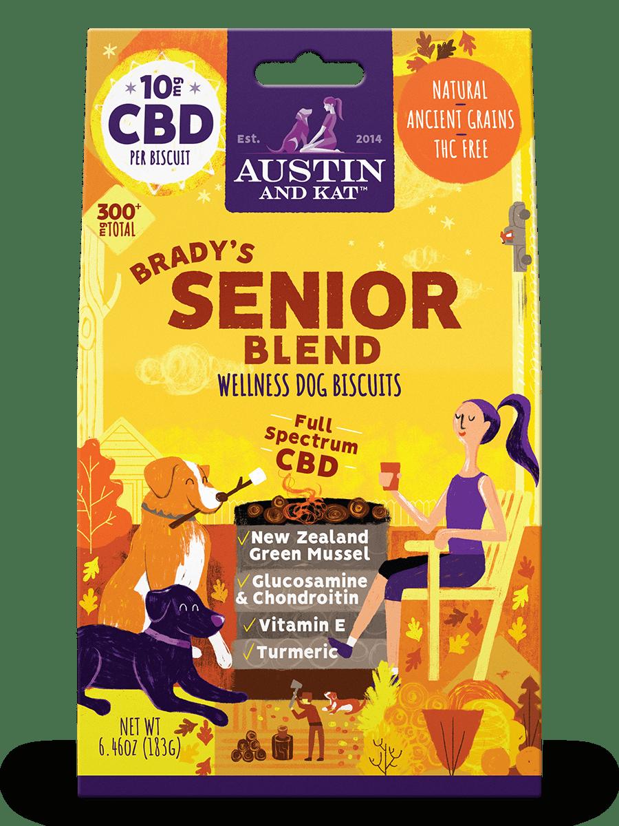 austin and kat senior dog treats front grande@2x - Brady's Senior Blend Dog Biscuits